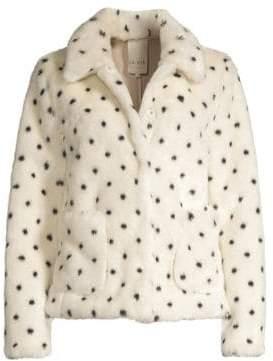 Rebecca Taylor Polka Dot Faux-Fur Jacket