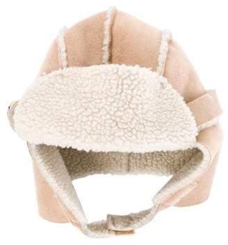 Il Gufo Boys' Suede Trapper Hat