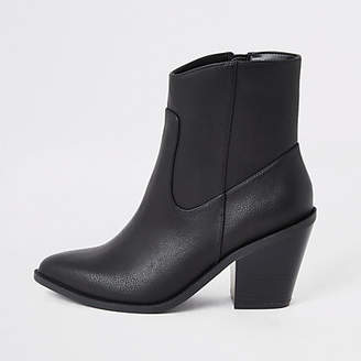 River Island Black western ankle boots