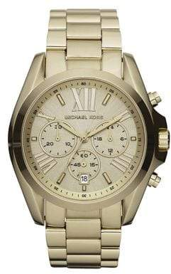 Michael Kors Bradshaw Goldtone Stainless Steel Chronograph Bracelet Watch