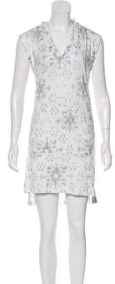 Baja East Sleeveless Hooded Dress