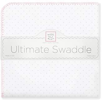 Swaddle Designs Ultimate Swaddle Blanket, Premium Cotton Flannel, Classic Polka Dots, Pastel Pink