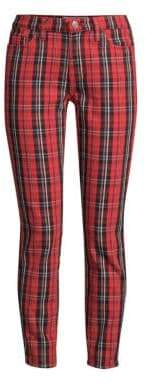 Current/Elliott The Stiletto Plaid Cropped Trousers