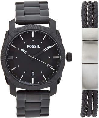 Fossil FS5393 Black Watch & Bracelet Set