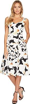 Adrianna Papell Women's Lily Floral Fit and Flare