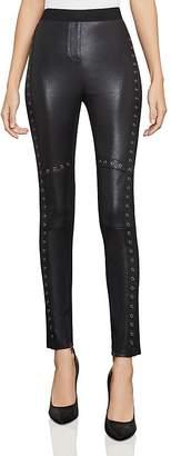 BCBGMAXAZRIA Beysa Grommeted Faux-Leather Leggings