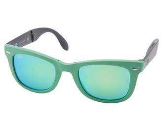 Ray-Ban RB4105 Wayfarer Folding 50mm Plastic Frame Fashion Sunglasses