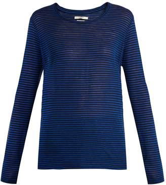 Etoile Isabel Marant Karon striped linen-blend top