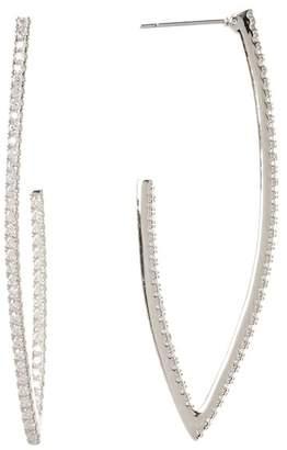 Nordstrom Rack CZ Pave J-Hoop Earrings