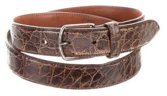 Giorgio Armani Crocodile Buckle Belt