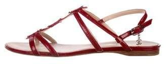 Chanel CC Patent Leather Sandals