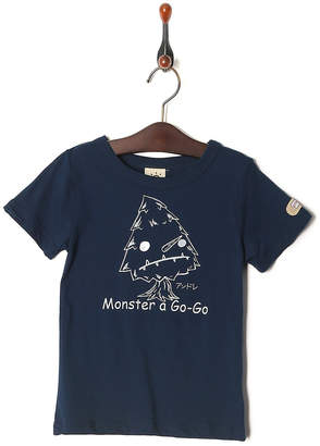 Kid's Pajama & More ネイビー プリント半袖Tシャツ