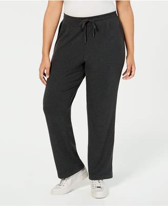 Ideology Plus Size High-Rise Side-Snap Sweatpants