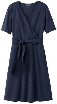 L.L. Bean L.L.Bean Women's Cotton/Tencel Dress, Elbow-Sleeve