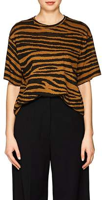 Proenza Schouler Women's Tiger-Pattern Cotton T-Shirt