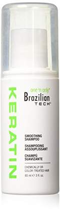 One 'N Only Brazilian Tech Keratin Sulfate-Free Smoothing Shampoo 3 oz