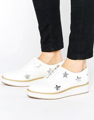 Truffle Collection Flatform Star Detail Shoe $45 thestylecure.com
