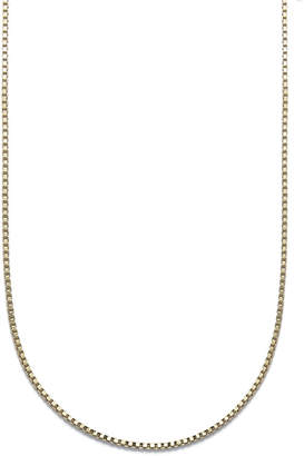 "Giani Bernini 18K Gold over Sterling Silver Necklace, 18"" Box Chain"