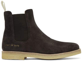 Common Projects Brown Suede Chelsea Boots