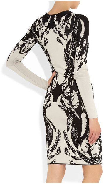 Temperley London Stretch-knit intarsia dress