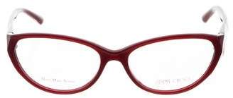 Jimmy Choo Cat-Eye Logo Eyeglasses