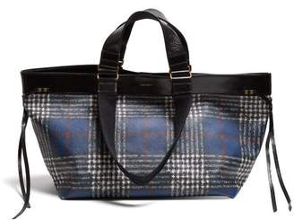 Isabel Marant Wardy Plaid Tote Bag - Womens - Blue Multi