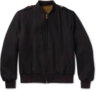 Kent & Curwen Virgin Wool-Twill Bomber Jacket $1,250 thestylecure.com