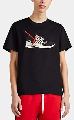 Mostly Heard Rarely Seen 8-Bit Men's Sneaker-Graphic Cotton T-Shirt - Black