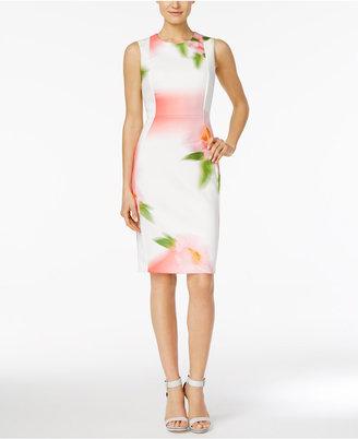 Calvin Klein Floral-Print Sheath Dress $134 thestylecure.com