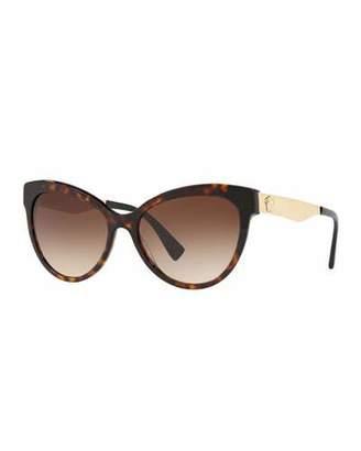 Versace Gradient Acetate & Metal Cat-Eye Sunglasses