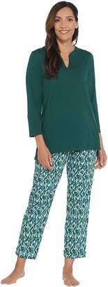 Stan Herman Jersey Knit Tunic and Slim Pant Lounge Set