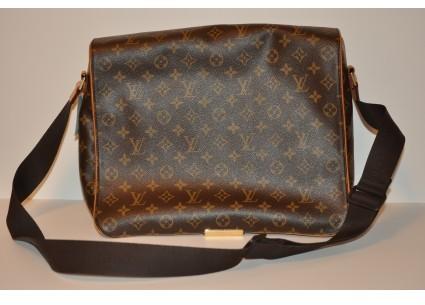 Louis Vuitton very good (VG Monogram Canvas Abbesses Crossbody Messenger Bag