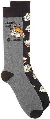 Nickelodeon Rugrats Crew Socks - 2 Pack - Men's