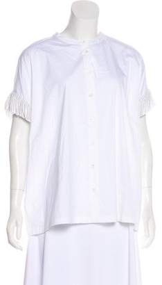 Brunello Cucinelli Embellished Button-Up Top