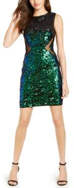 Sho Mesh-Inset Sequined Dress