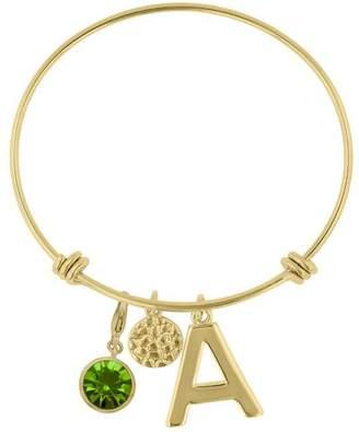 Passiana Peridot Initial Bracelet