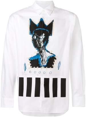 Comme des Garcons Basquiat printed shirt