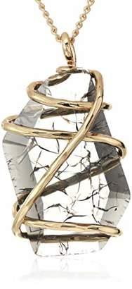 Robert Lee Morris Soho Caged Diamond Stone Pendant Necklace