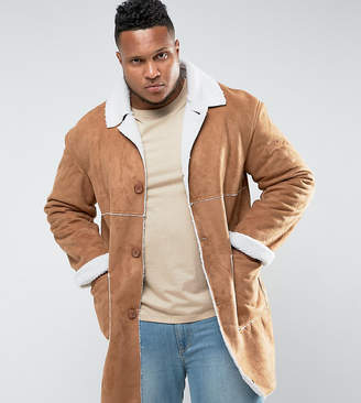 Asos Sixth June Faux Shearling Jacket In Tan exclusive to