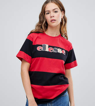Ellesse Relaxed T-Shirt With Front Logo In Contrast Stripe