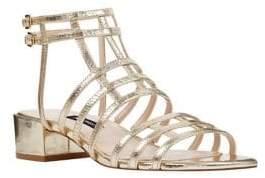 Nine West Xerxes Leather Gladiator Sandals