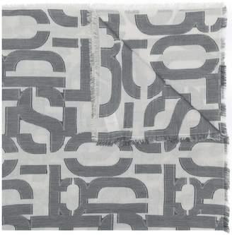 Closed logo print scarf