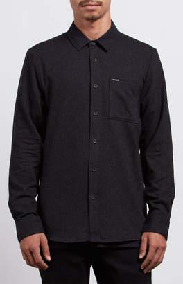 Volcom Caden Solid Long Sleeve Button Up Shirt
