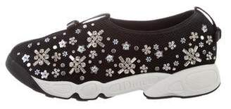 Christian Dior Embellished Floral Fusion Sneakers