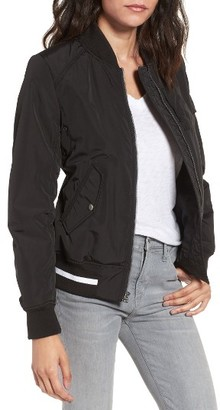 Women's Andrew Marc Foster Nylon Twill Bomber Jacket $150 thestylecure.com