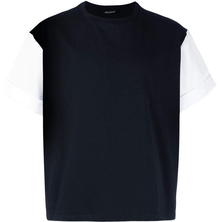 Neil Barrett contrast sleeve T-shirt
