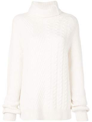 Haider Ackermann Oversized Turtleneck Cable Knit Sweater