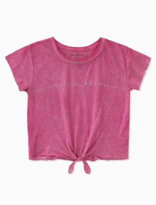 Calvin Klein girls logo tie front t-shirt