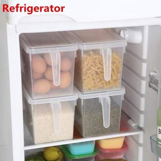 Mohoo Kitchen Sealed Plastic Crisper Refrigerator Food Storage Bin Box Case Container with Handle +Lid