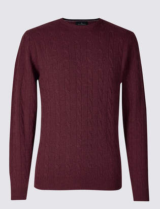 Blue Harbour Merino Cable Knit Jumper with Yak